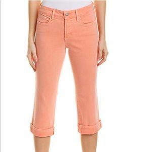 NWT NYDJ Marilyn Crop Jeans Peach/Orange Size 12P